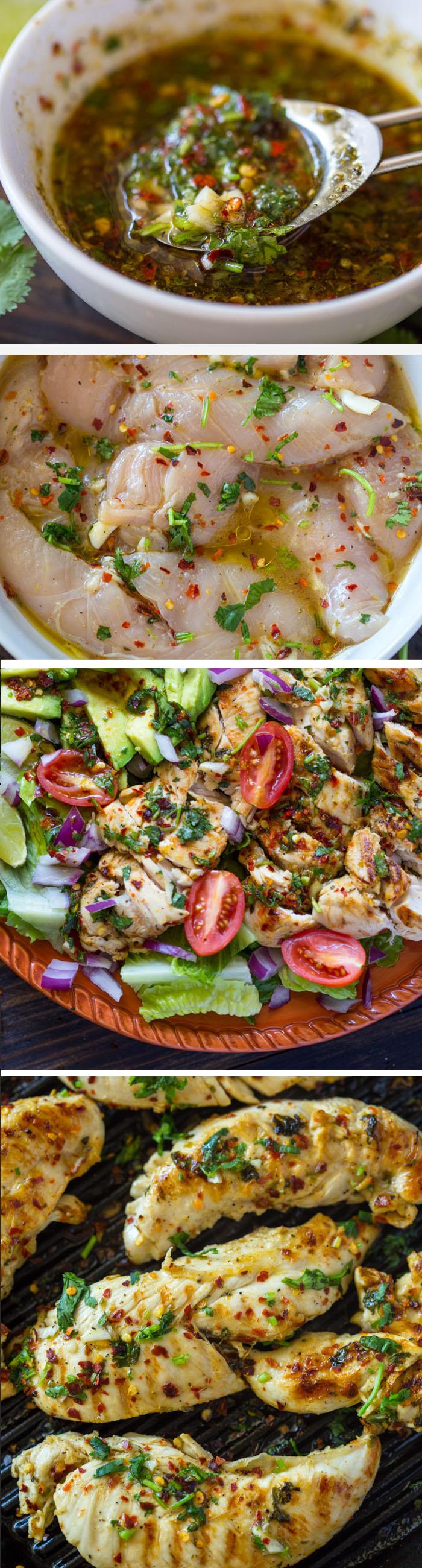 Grilled Chili Cilantro Lime Chicken