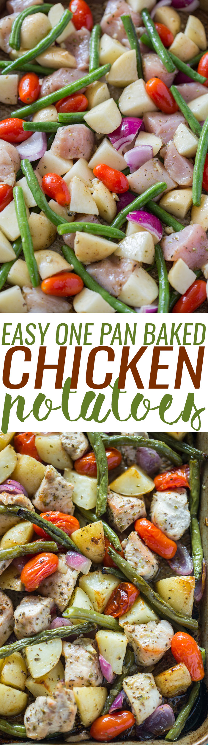 Easy One Pan Roasted Chicken & Potatoes