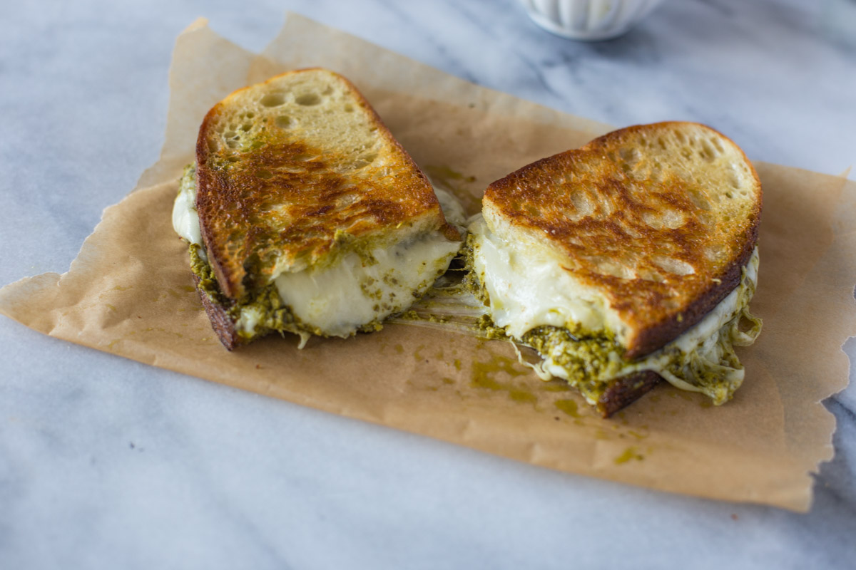 The Best Pesto Grilled Cheese