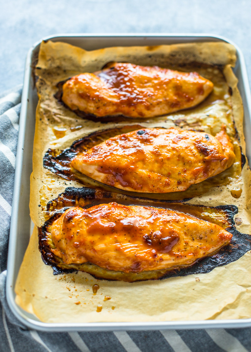 Easy 3 Ingrident BBQ Ranch Chicken
