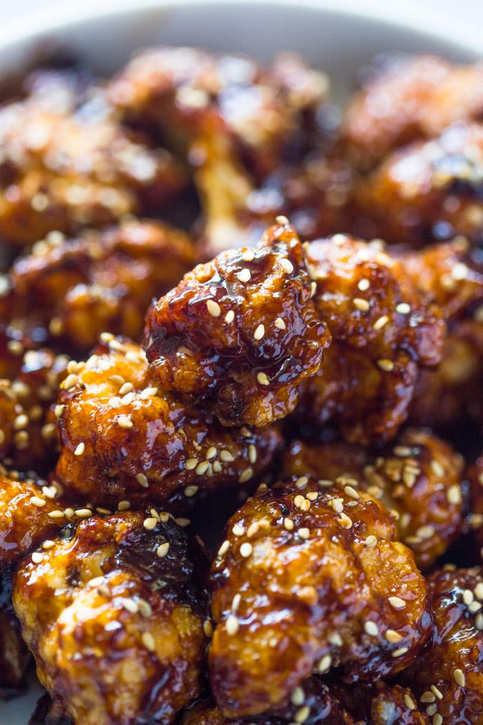 Crispy Sesame Cauliflower Bites