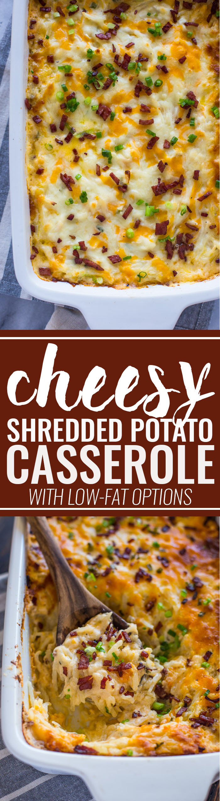 Cheesy Shredded Potato Casserole (with Low-fat Option)
