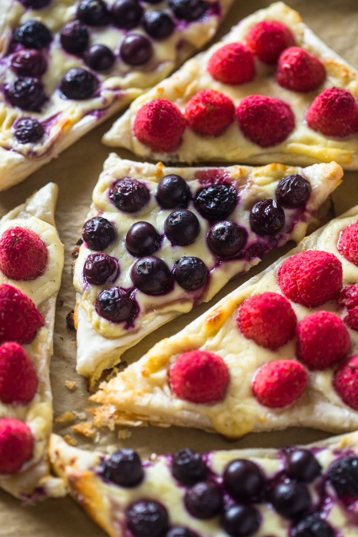 Easy 3 Ingredient Berry and Cheese Pastries