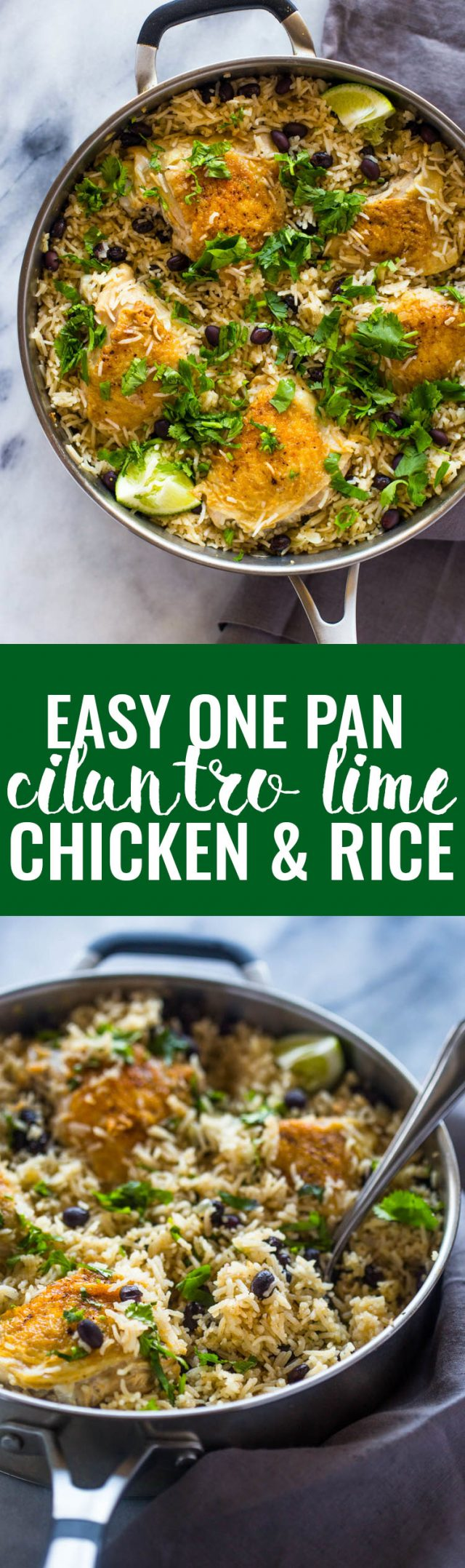 One Pan Cilantro Lime Chicken and Rice