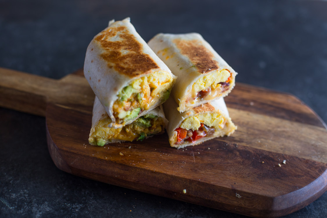 Cheesy Breakfast & Brunch Egg burrito Wraps