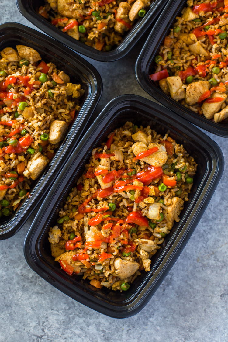 Healthy Chicken & Veggie Fried Rice Meal-Prep