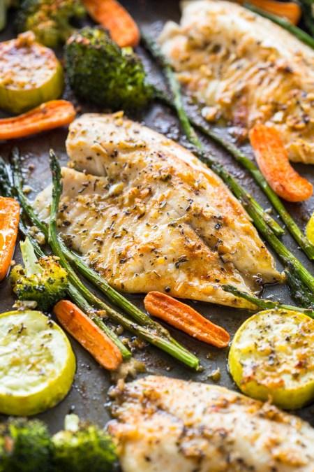 Healthy Sheet Pan Tilapia and Veggies