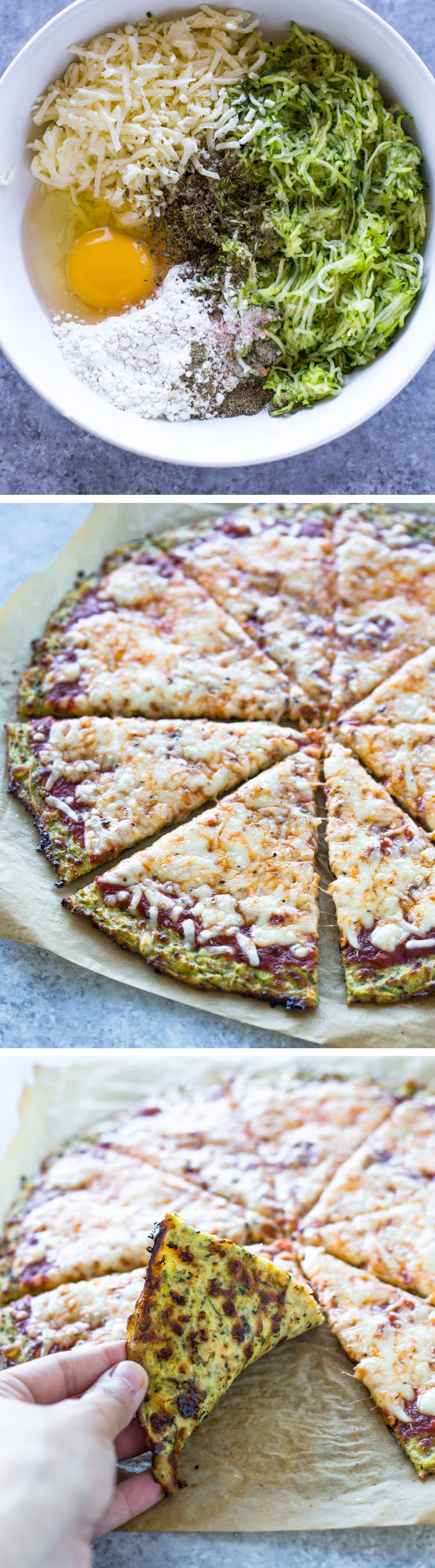 Low-Carb Zucchini Crust pizza