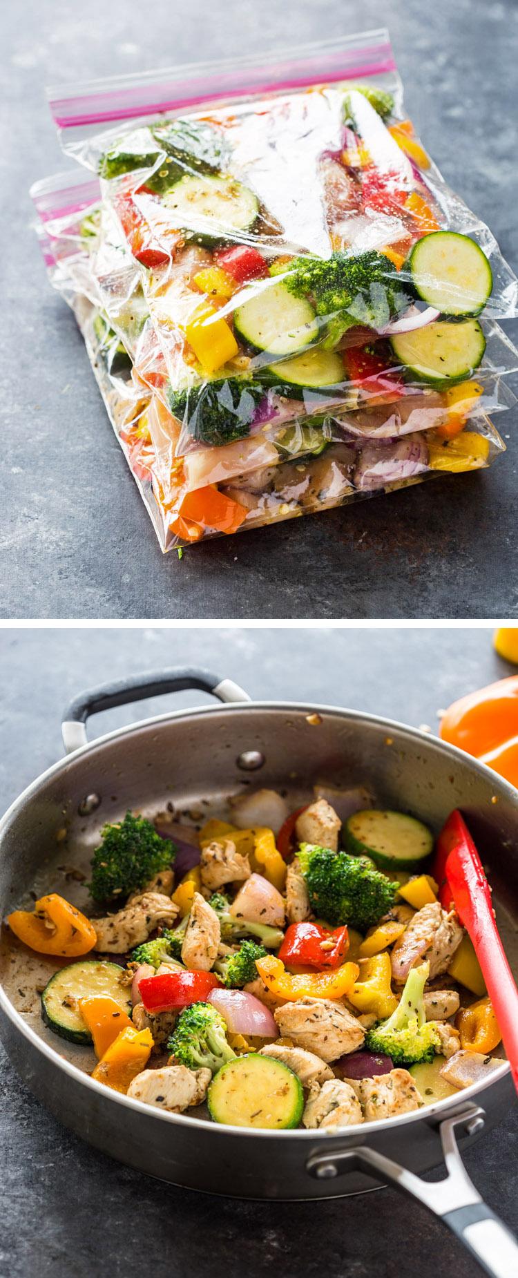 Chicken and Veggie Freezer Packs