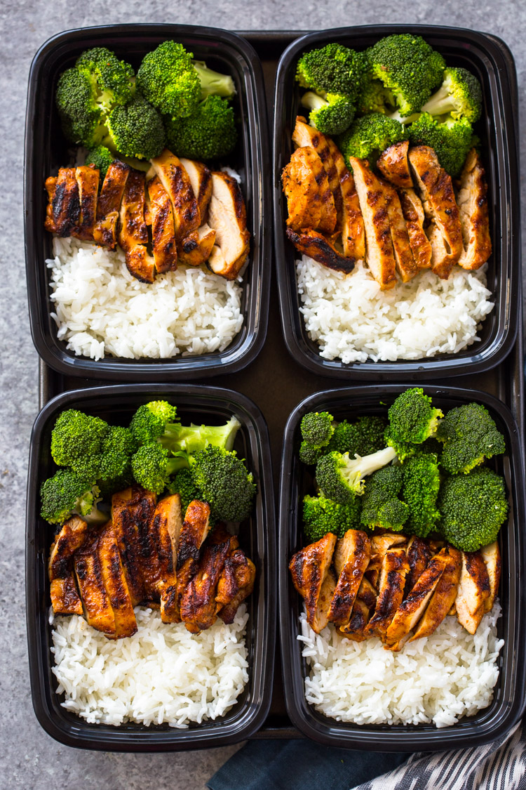 20 Minute Meal Prep Chicken Rice And Broccoli Gimme Delicious