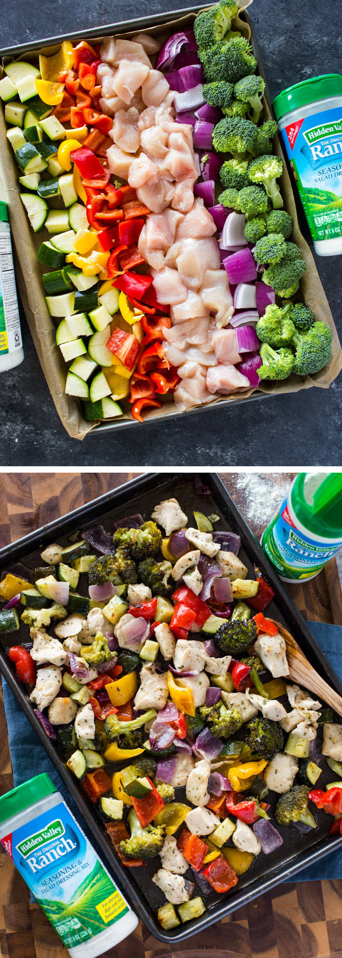 15 Minute Sheet Pan Ranch Chicken and Veggies