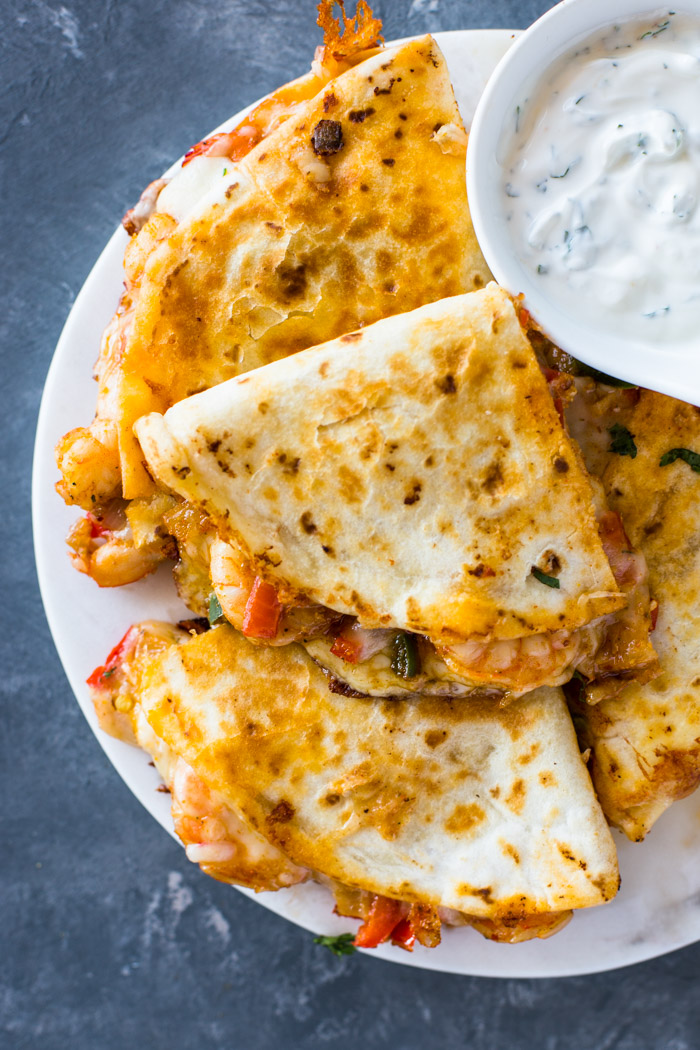 The Best Ever Shrimp Quesadillas