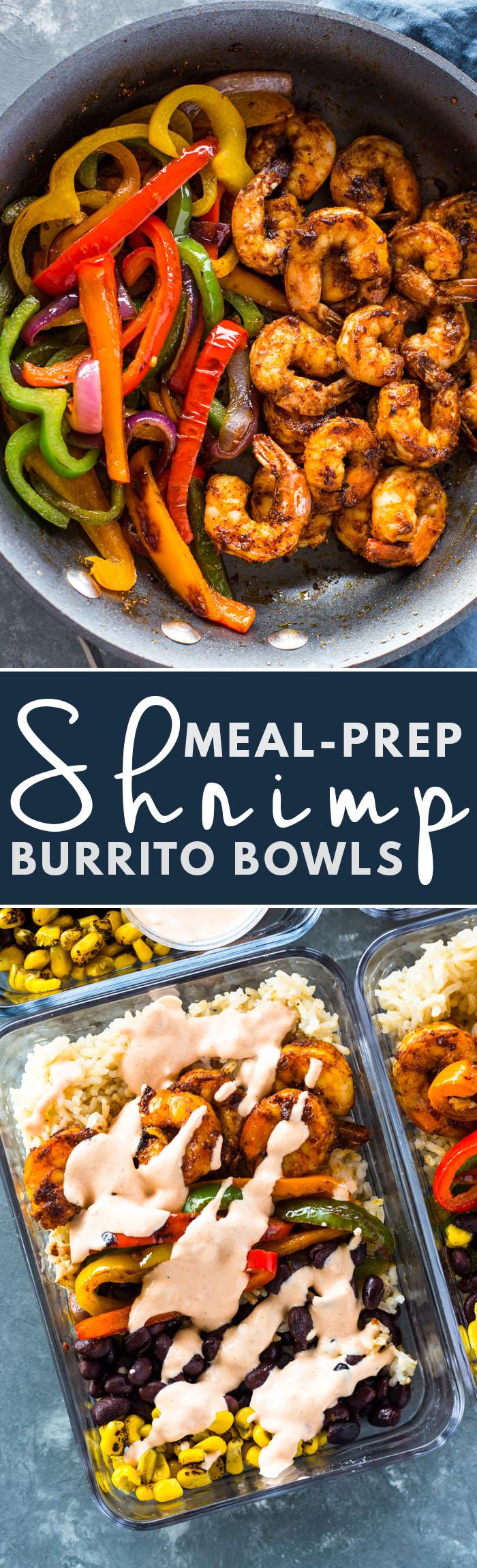 Meal-Prep Shrimp Burrito Bowls