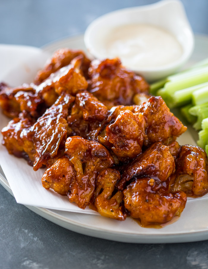 Baked Spicy Honey BBQ Cauliflower Wings