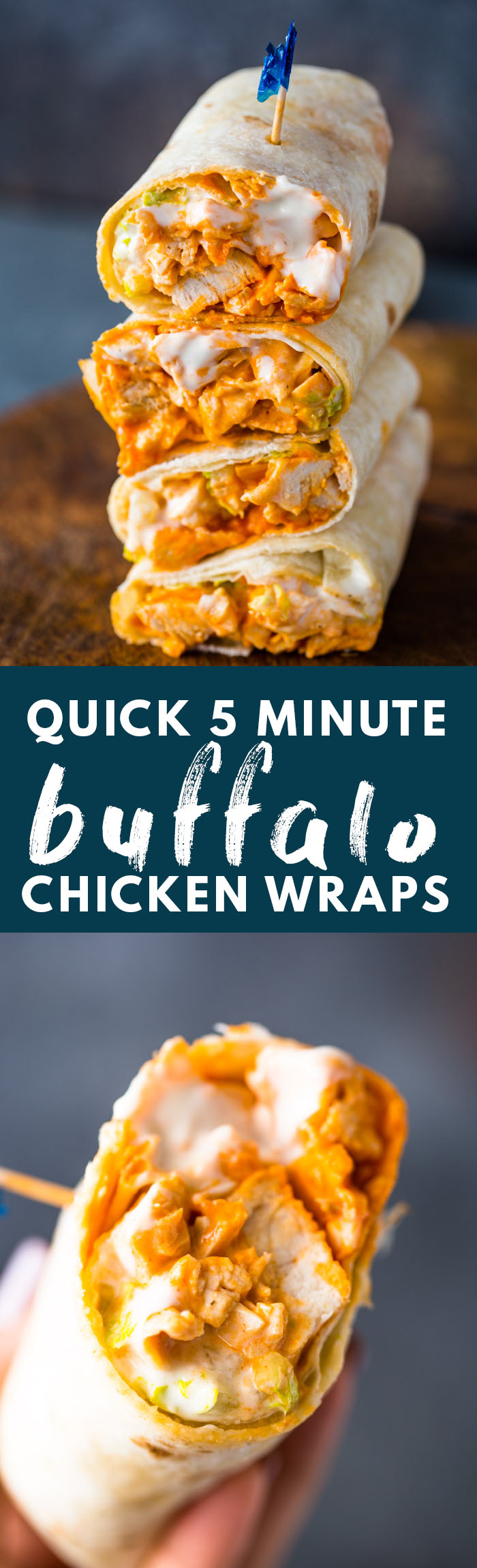 5 Minute Buffalo Chicken Wraps Gimme Delicious