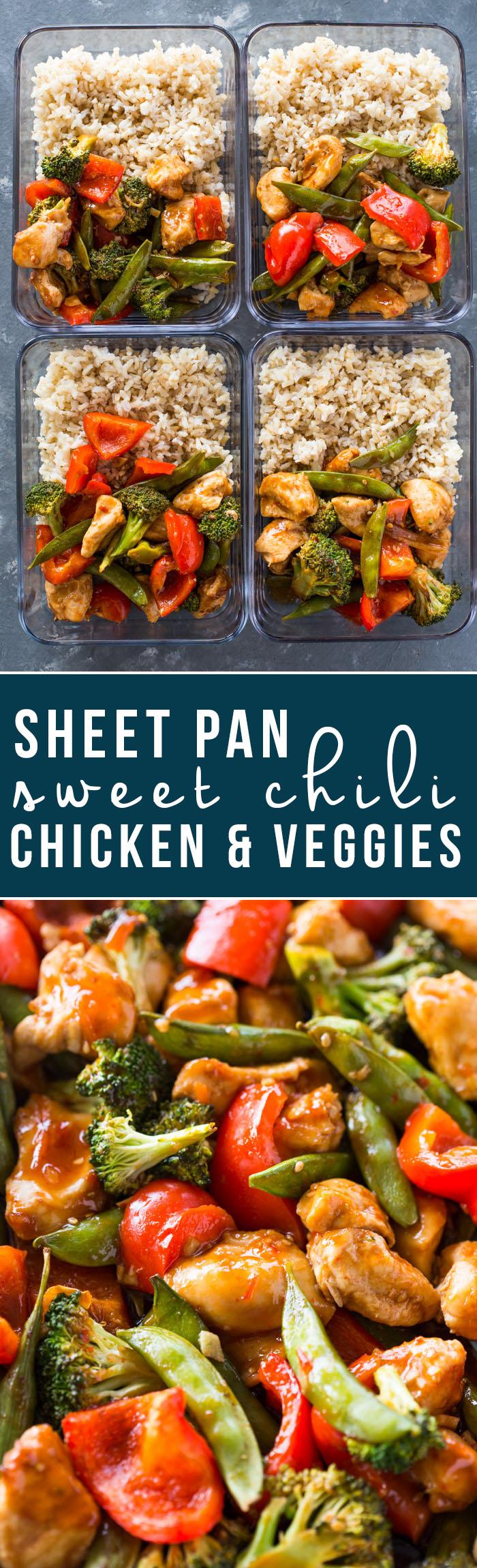 Sheet Pan Sweet Chili Chicken & Veggies
