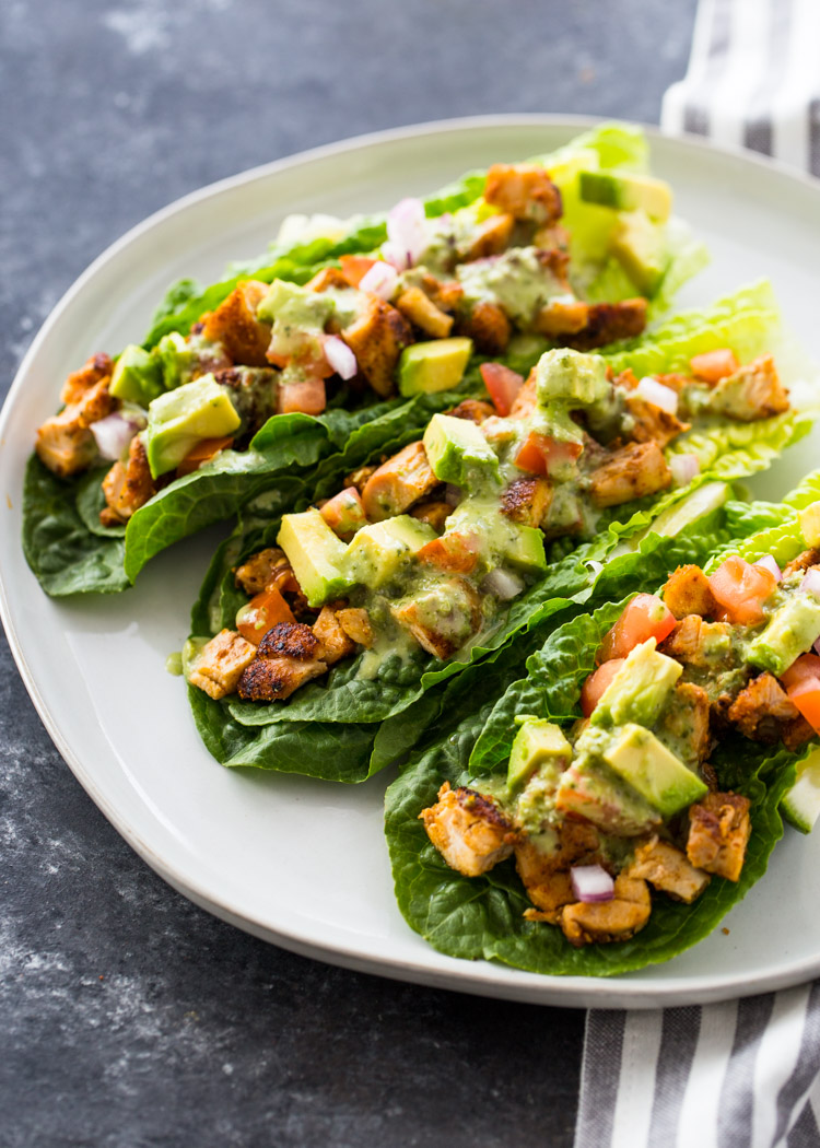 Chicken Taco Lettuce Wraps (Low-Carb , Paleo, Keto)