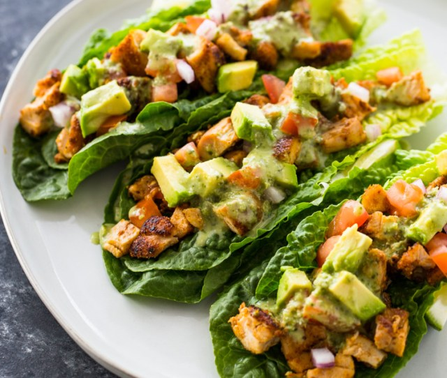Chicken Taco Lettuce Wraps Low Carb Paleo Keto