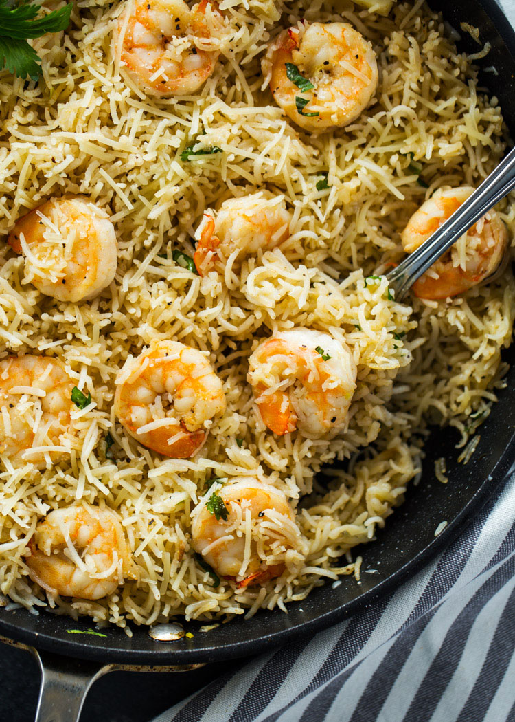 15 Minute One Pan Shrimp and Rice