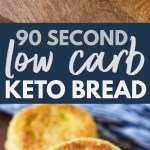90 Second Microwavable Low Carb Keto Bread Gimme Delicious