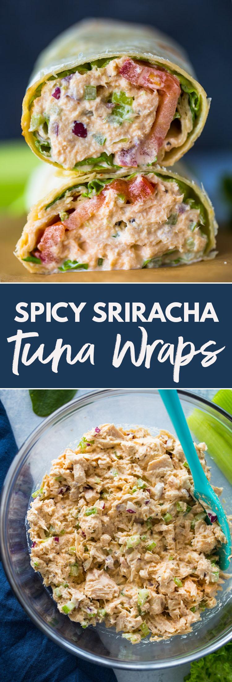 Spicy Sriracha Tuna Wraps