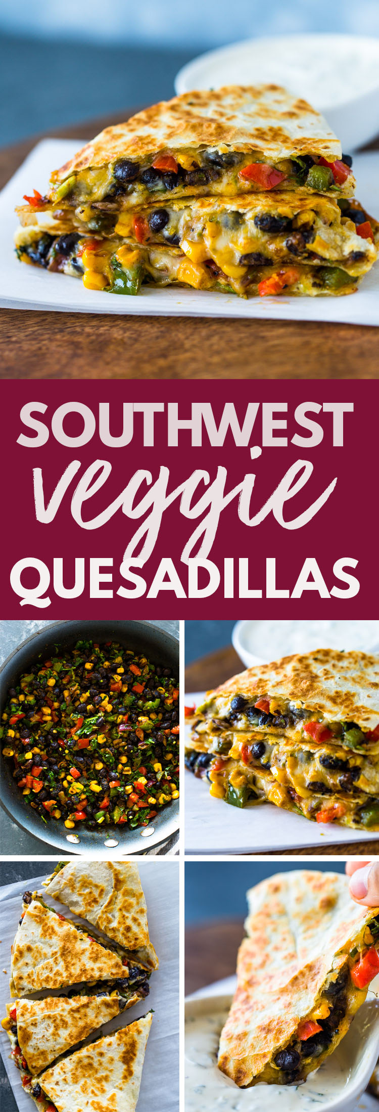 Southwest Veggie Quesadillas Gimme Delicious