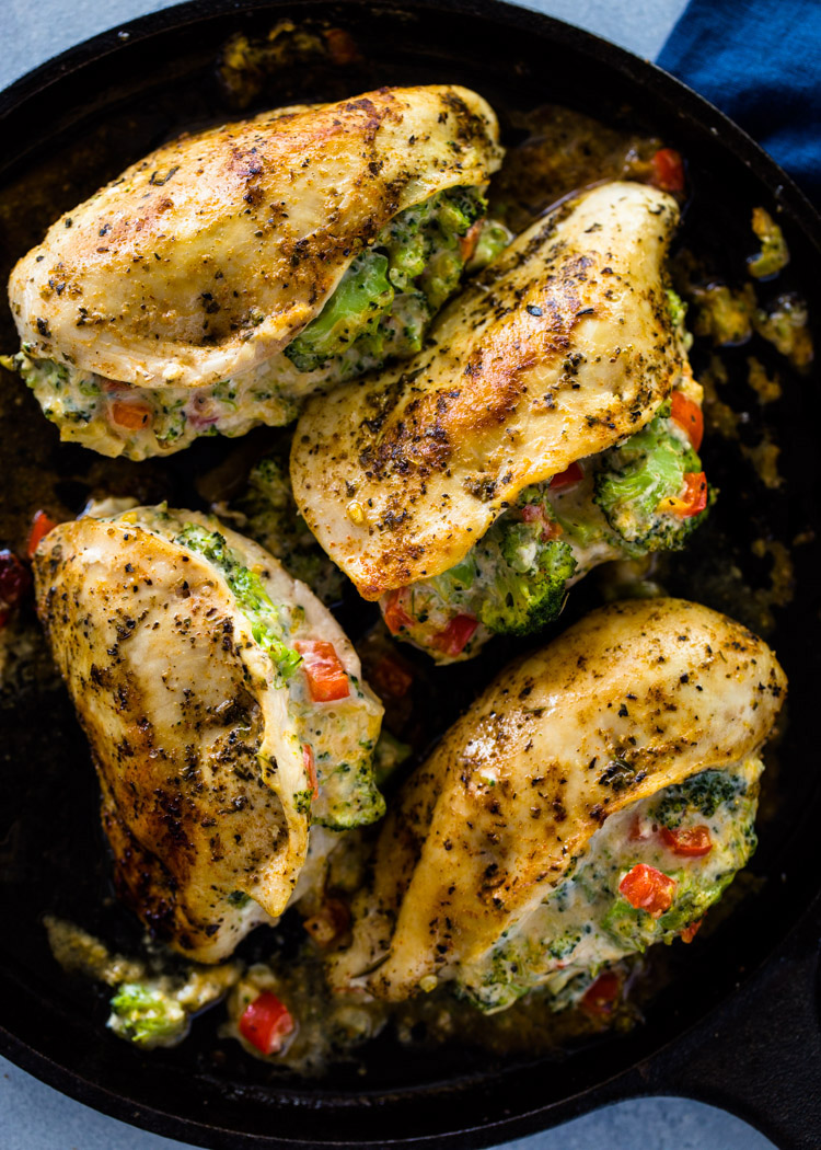 Cheesy Broccoli Stuffed Chicken Low-Carb, Keto  Gimme -3888