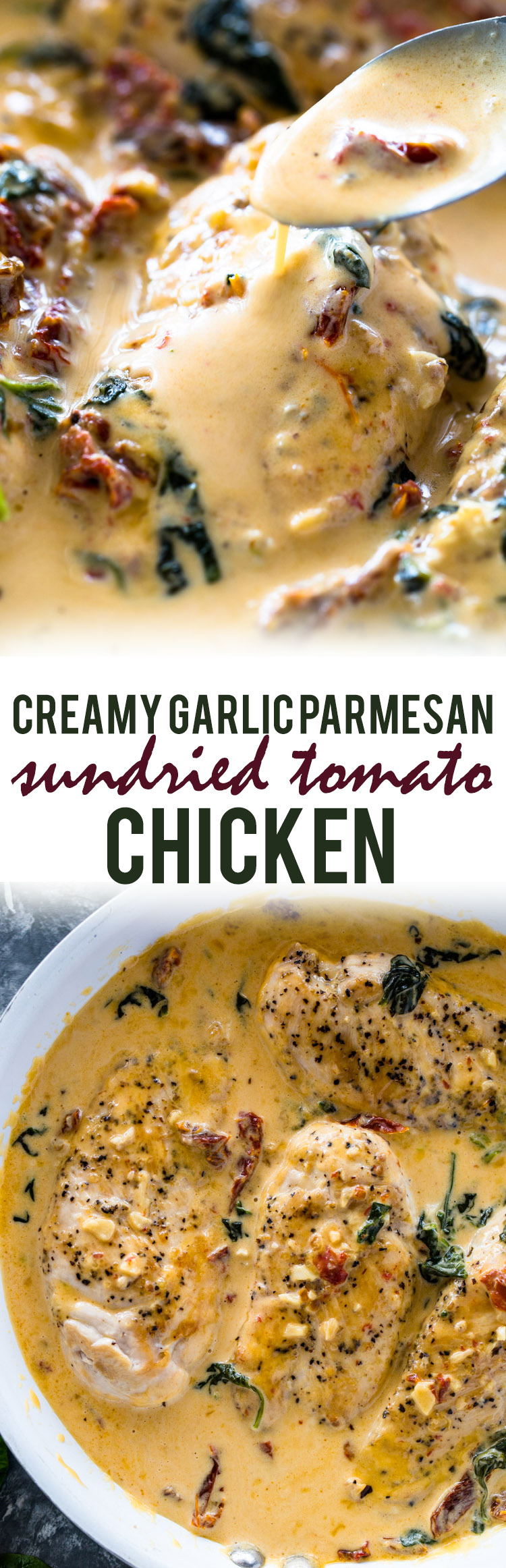 Creamy Garlic Parmesan Sun-dried Tomato Chicken