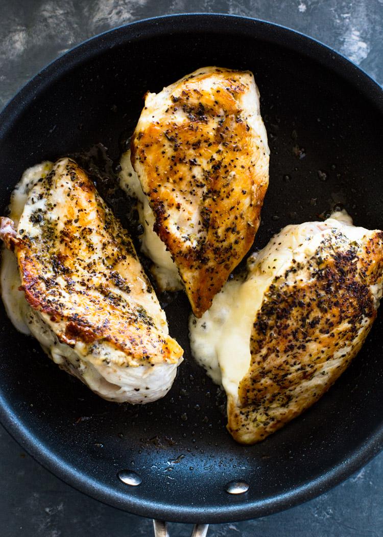 Keto Stuffed Chicken Parmesan