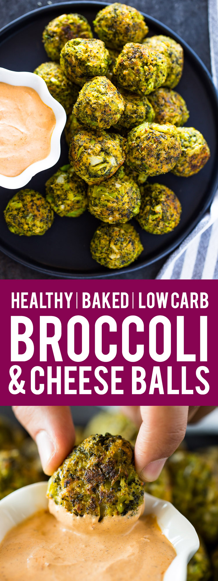 Broccoli Cheese Balls (Low Carb / Keto Friendly)
