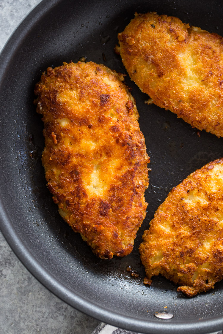 Crispy Parmesan Crusted Chicken Breasts (Low-Carb - Keto)