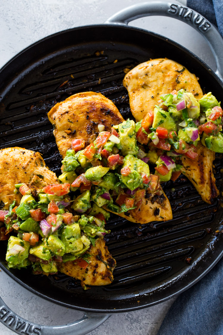 Grilled Chicken With Avocado Salsa Keto Gimme Delicious