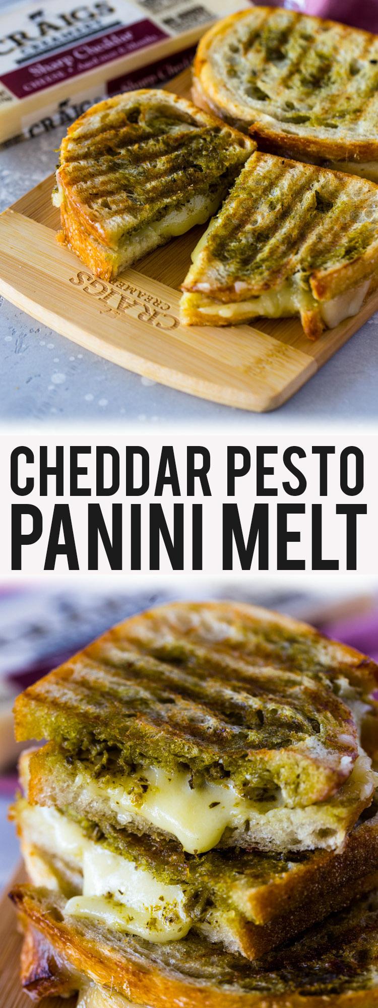 Cheddar Pesto Panini Melts
