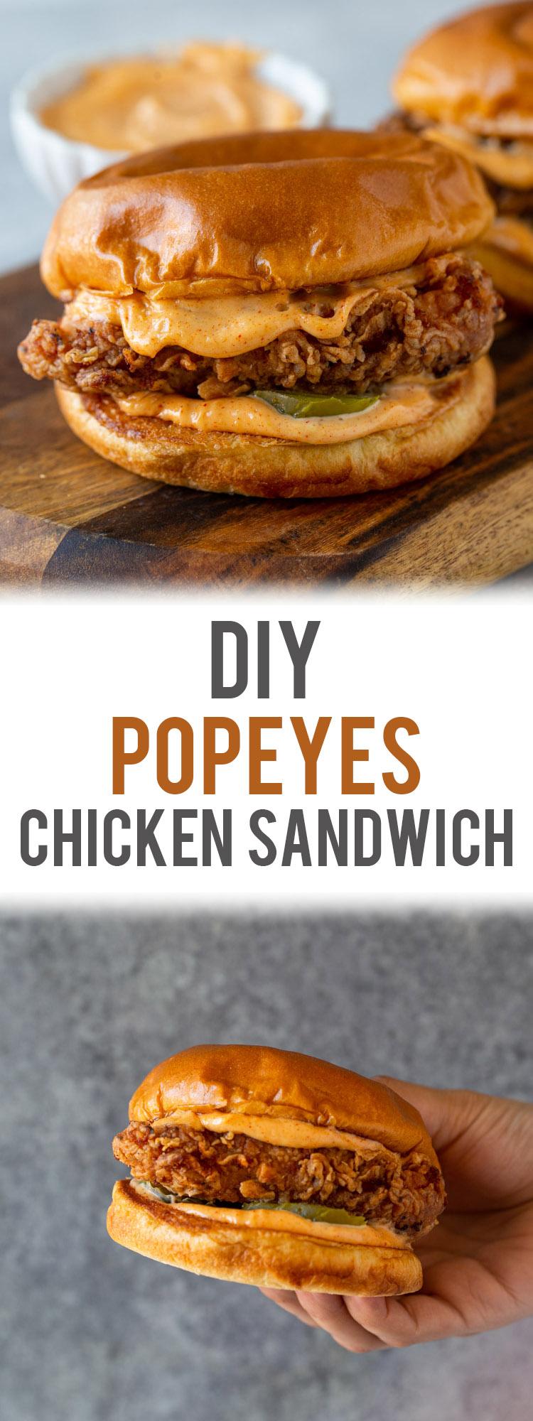 DIY Popeyes Buttermilk Fried Chicken Sandwich