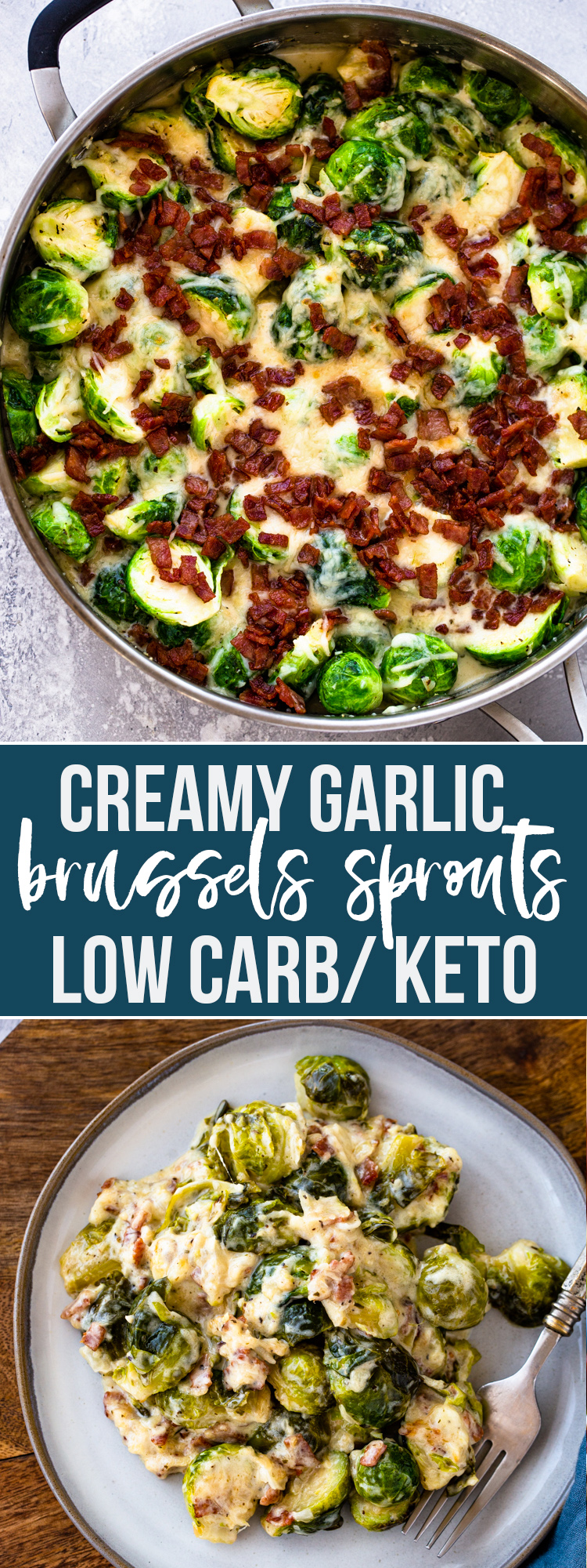 Creamy Garlic Parmesan Brussels Sprouts (Keto/Low Carb)