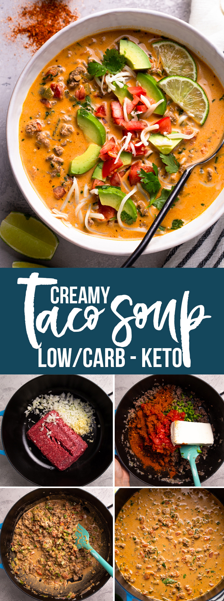 Creamy Taco Soup (Low Carb/Keto)