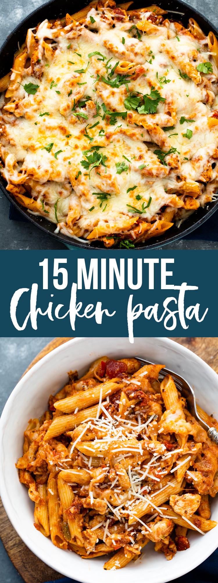 15 Minute Chicken Pasta Gimme Delicious