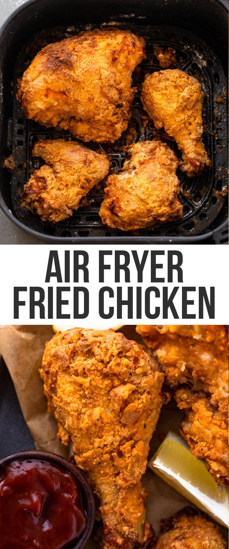 Spicy buttermilk Air Fryer Fried Chicken