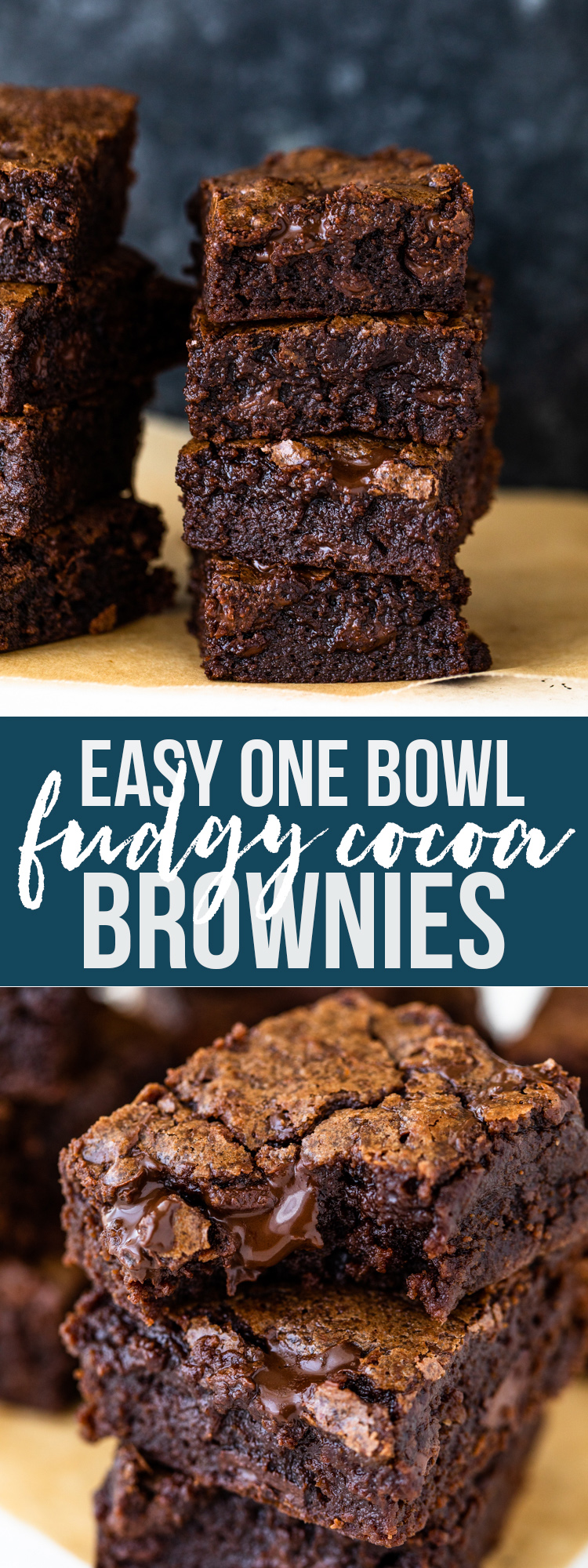 Easy One Bowl Fudgy Cocoa Brownies Gimme Delicious