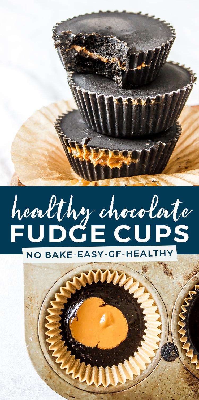 Healthy Chocolate Fudge Cups