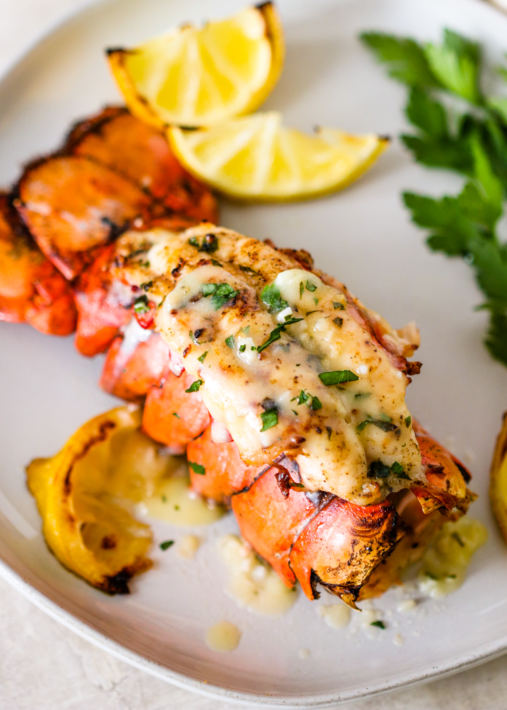 Broiled Lobster Tails With Garlic Lemon Butter Gimme Delicious