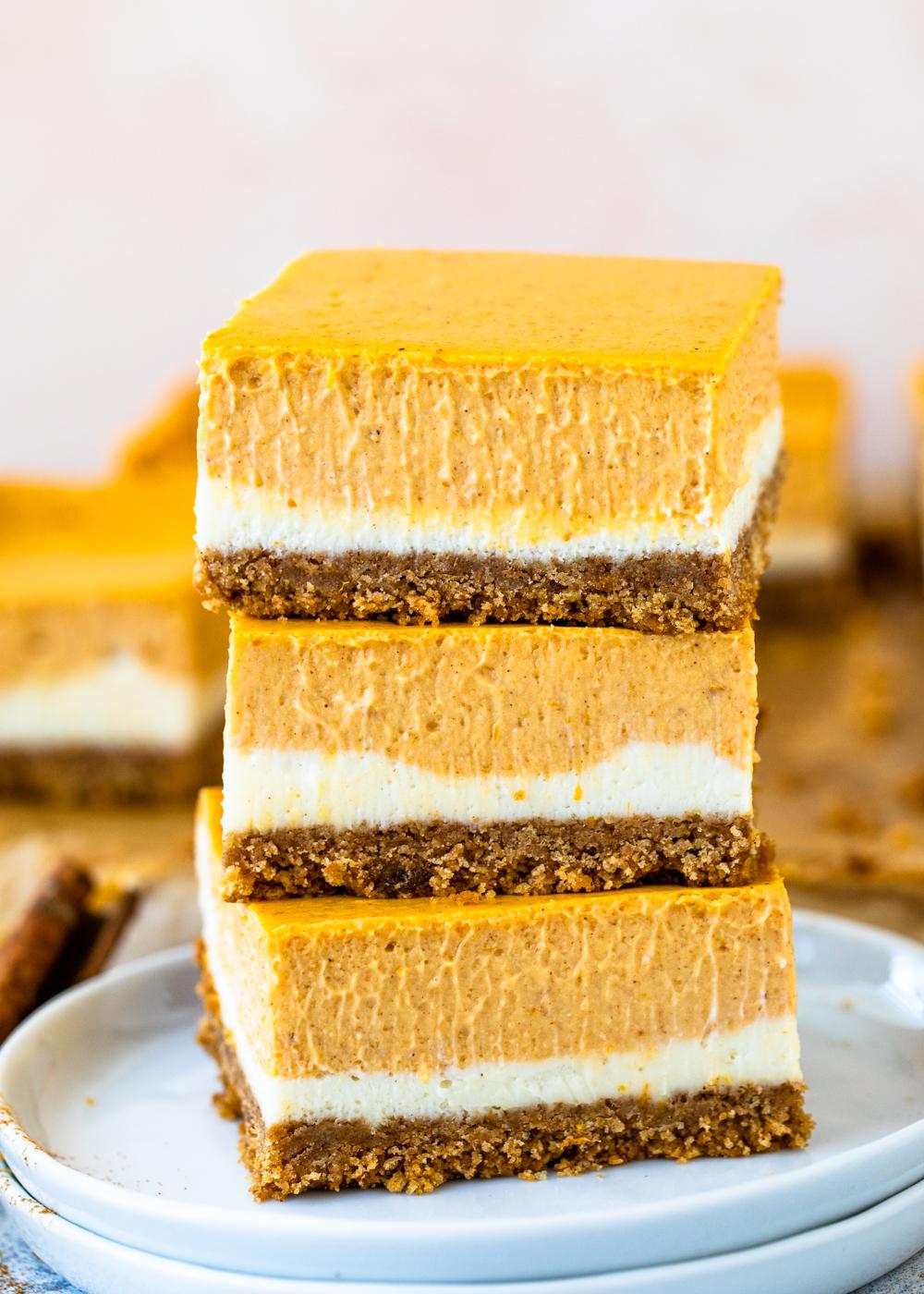 Pumpkin Cheesecake Bars Gimme Delicious