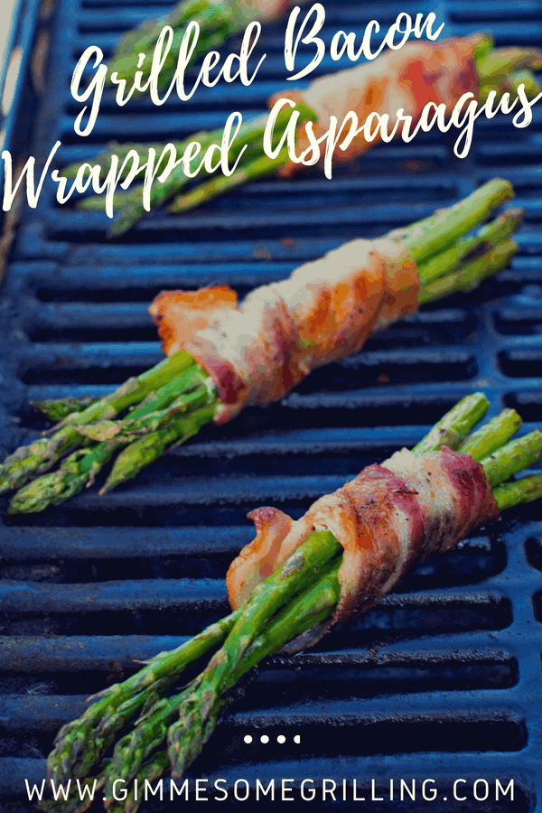 Bacon Wrapped Asparagus is a quick and easy grilling recipe perfect for summer! This easy side dish is the perfect way to enjoy summer! #asparagus #bacon #sidedish #grilling #grilled #recipe #recipeideas #gimmesomegrilling