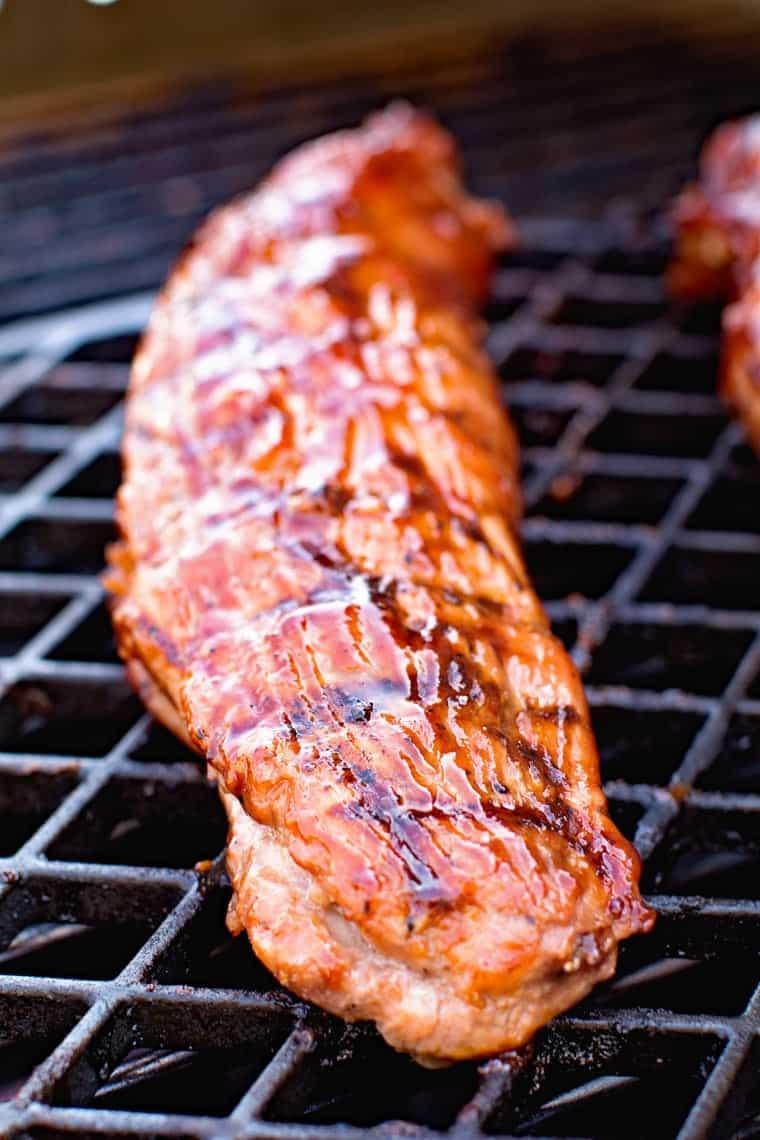 bbq pork tenderloin on the grill