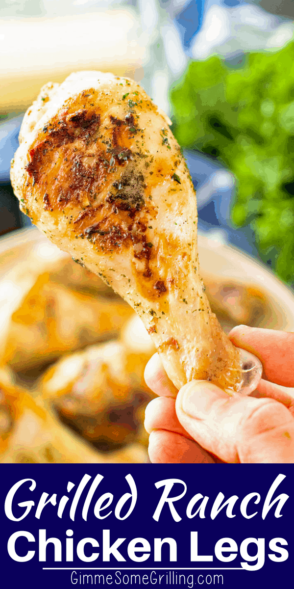 Delicious Grilled Ranch Chicken Drumsticks are perfect for your cookouts, barbecues and backyard parties! Chicken Drumsticks are flavorful, easy and inexpensive. These easy grilled chicken legs will be a hit and favorite for the summer!