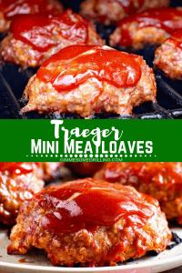 Traeger Mini Meatloaf on Grill Pinterest 1