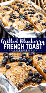 Grilled Blueberry French Toast Pinterest Collage1