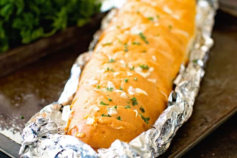 Grilled Garlic Bread in Foil