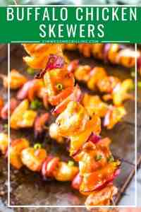 Buffalo Chicken Kebabs Pinterest collage
