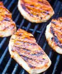 Southwest Pork Chops on grill